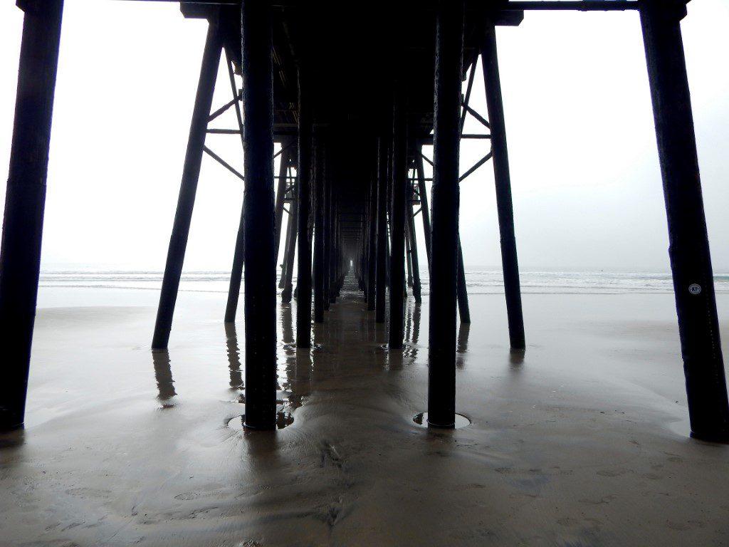 Oceanside pier underneath san diego beaches