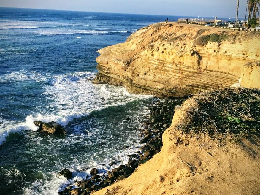 sunset cliffs december bluffs ocean waves