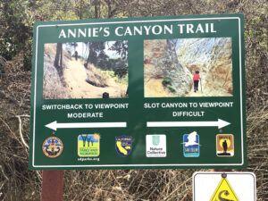 Annies Canyon trail information san elijo lagoon
