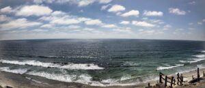 Beacons beach panoramic august ocean view