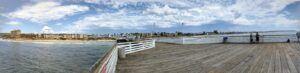 Crystal Pier panoramic sept 4 storm