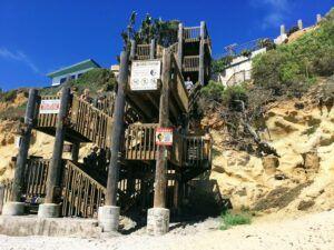 d street beach staircase encinitas