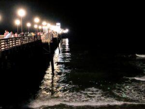 Oceanside Pier night shot labor day weekend