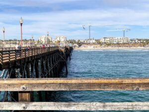 oceanside pier august san diego summer