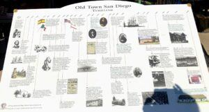 old town san diego timeline information sign