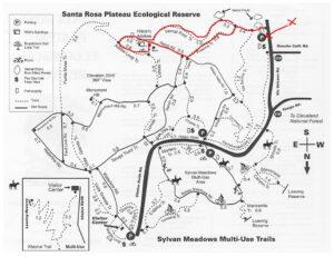 Santa Rose Plateau trail map vernal pools