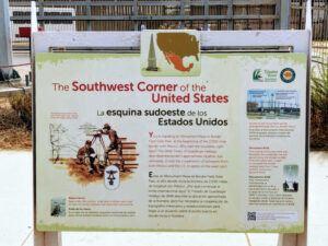 Southwest USA Information Sign Border Field State Park