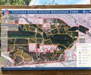 Tijuana river valley regional park information sign