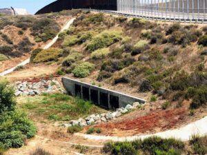 border field state beach Tijuana culverts storm