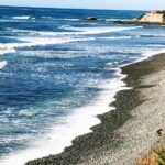 calumet park beach waves rocky shoreline