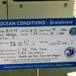 Grandview Ocean Conditions Sign Encinitas CA