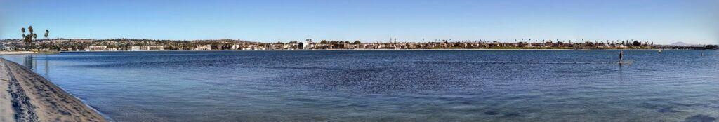 mission bay northwest paddleboarder panoramic