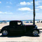 Oceanside the strand boardwalk black car