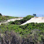 South Ponto Beach sand dunes lifeguard tower