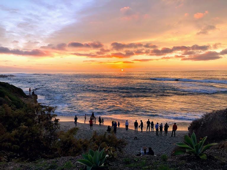 Sunset New Years Day La Jolla San Diego