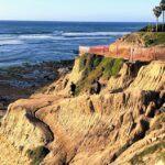 Bluff trail garbage beach king tide sunset cliffs
