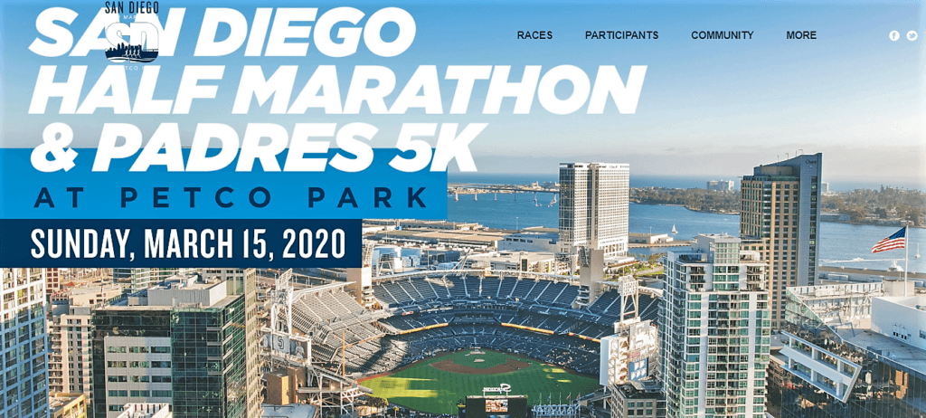 San Diego Half Marathon Padres 5k home page