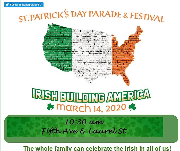 St Patricks Day Parade Festival Information