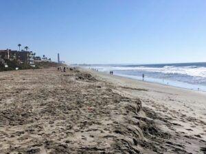 Carlsbad City Beach shoreline waves sand