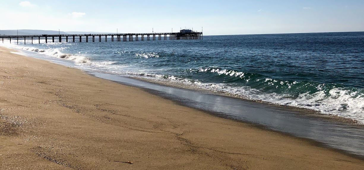 Newport Beach pier sand waves