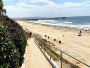 Pacific beach webcam beach sand walkway waves
