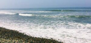The point san onofre beach surfing waves rocks