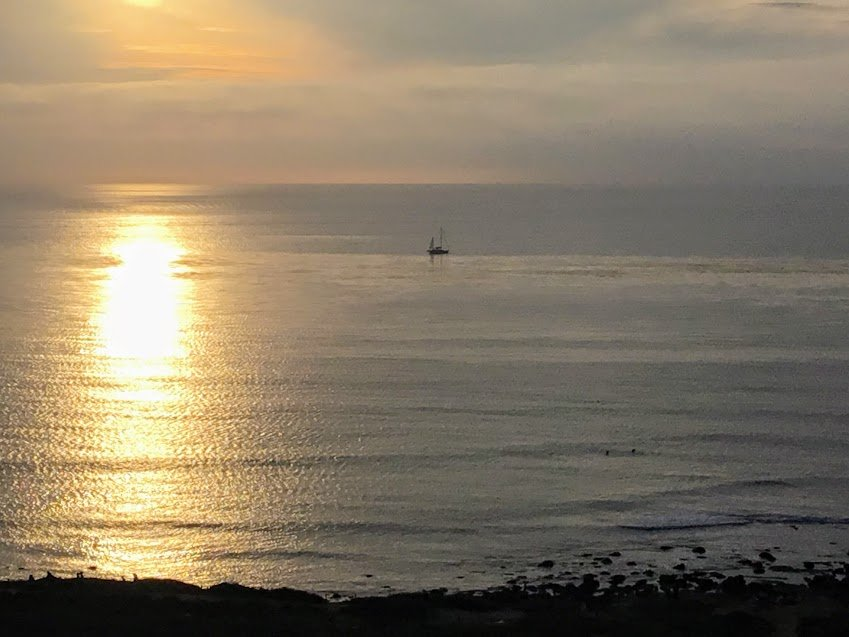 Offshore san diego ocean view sunset water sailboat