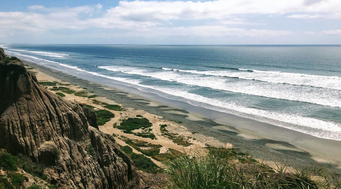 south trail 6 large bluffs waves sand ocean