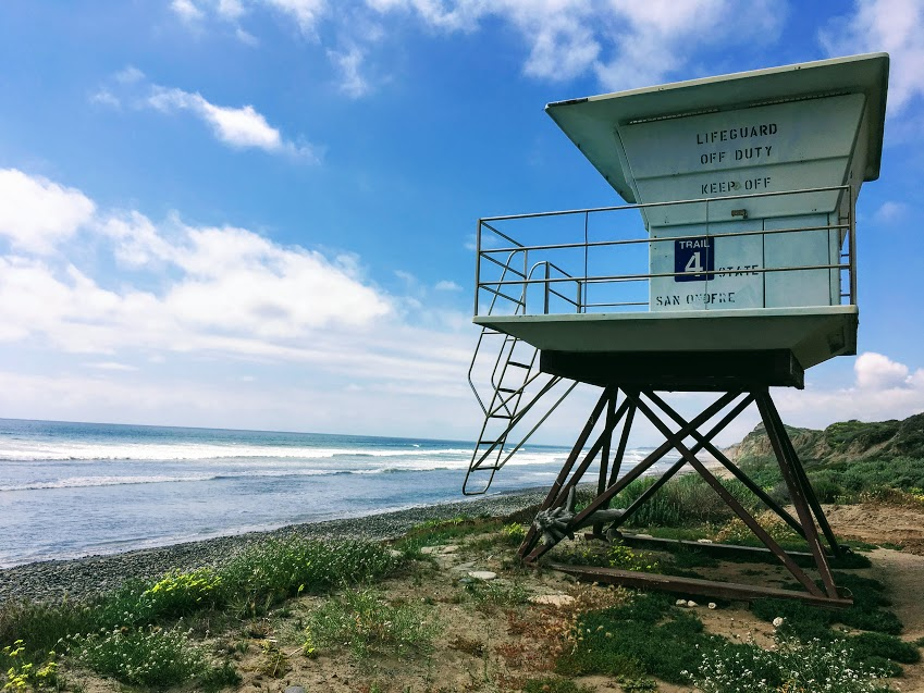 Trail 4 lifeguard tower san onofre state beach