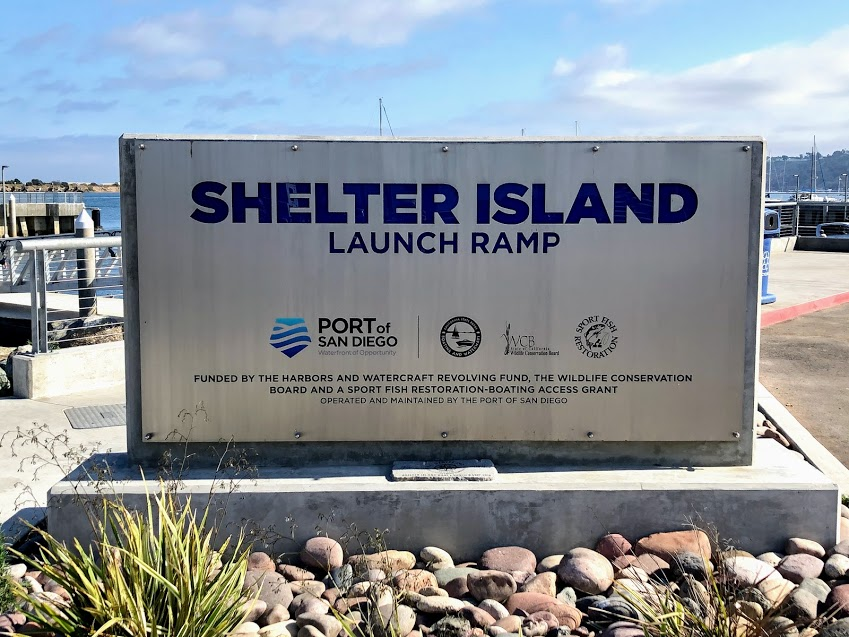 Shelter Island sign san diego bay