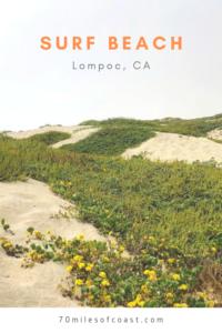 sand dunes surf beach lompoc CA