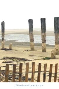wood pilings surf beach ocean beach park lompoc CA