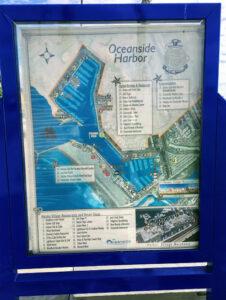 Oceanside Harbor Map display