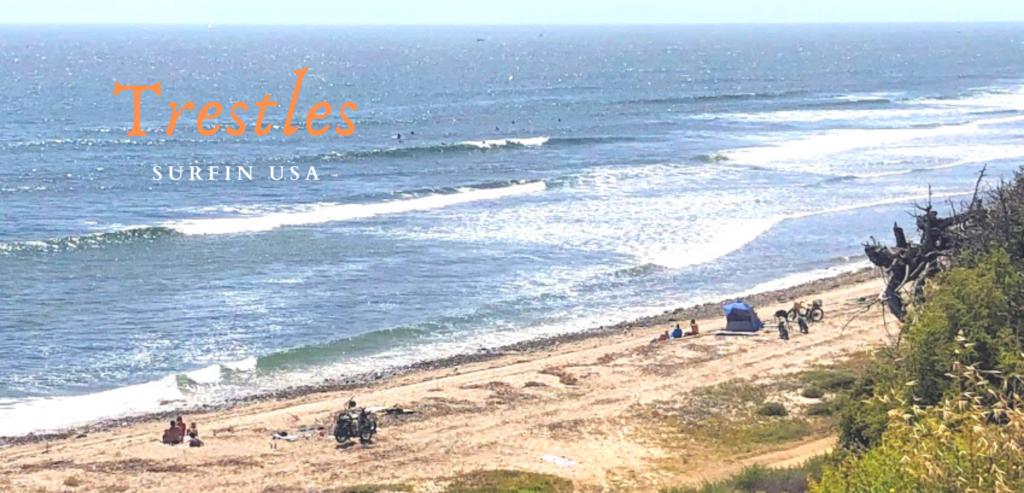 Trestles Surfin USA bluff view ocean waves