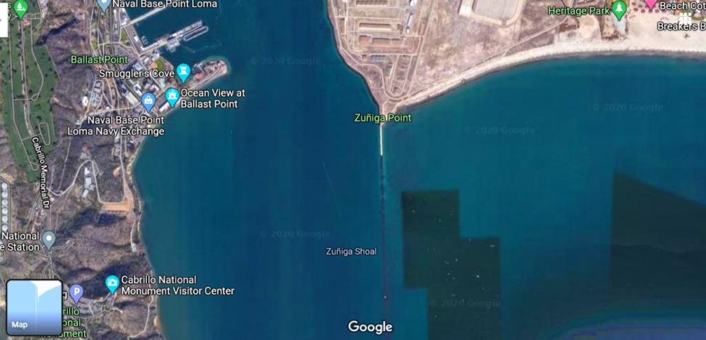 Zuniga Point san diego bay