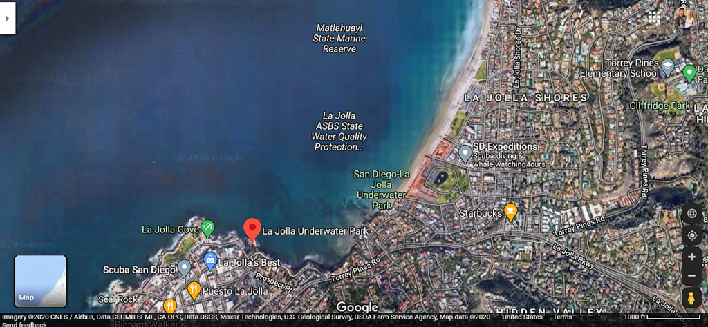 Map La Jolla Underwater Park Google Map