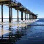 Pier shadow scripps beach la jolla