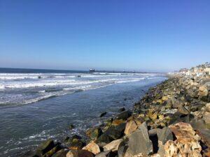 Wisconsin street beach oceanside king tide december