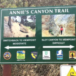 annies canyone trail information sign san elijo lagoon