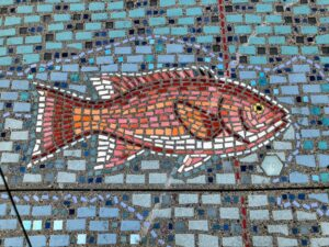 fish art colored tiles la jolla