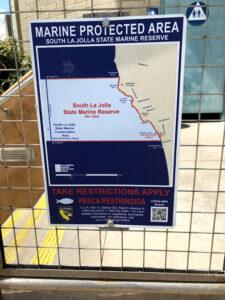 south la jolla no take MPA sign