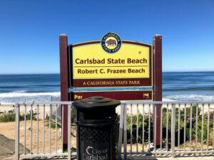 Robert Frazee state beach sign