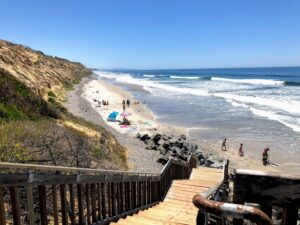 south carlsbad beach campground stairs