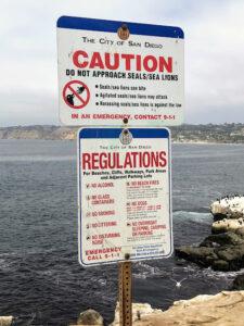 seal sea lion sign la jolla california sea lions