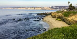 Boomer beach la jolla coastline